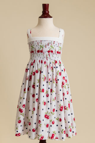 Smocked Cherry Dress