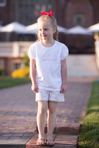 Girls Silhouette T-shirt and Shorts Set