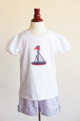 Girls Sailboat T-shirt