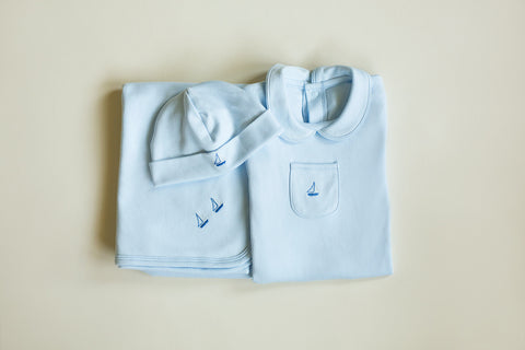 Boys Signature Layette Three Piece Set