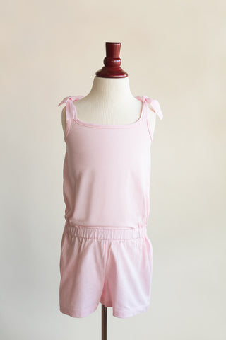 'Ashlyn'  Romper in Soft Pink