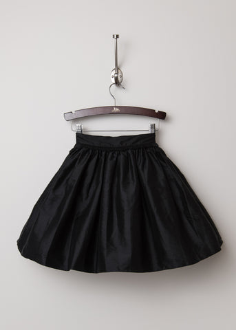 Black Silk Taffeta Party Skirt