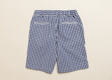 Boys Navy Gingham