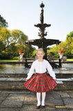Red Plaid Silk Taffeta Party Skirt