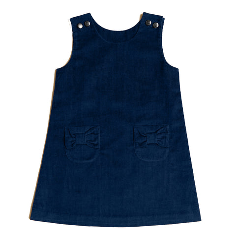 Little Girl Navy Corduroy Jumper Dress