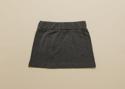 Girls Jersey Skirt in Slate