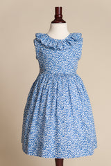 Liberty of London Blue V-back Ruffle Dress
