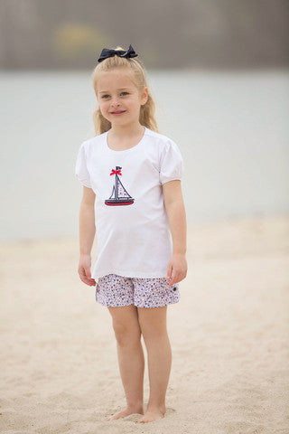 Girls Sailboat Shorts