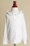 Girls Silver-Smocked Collar Blouse