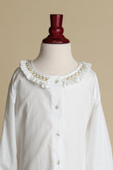 Girls Gold-Smocked Collar Blouse
