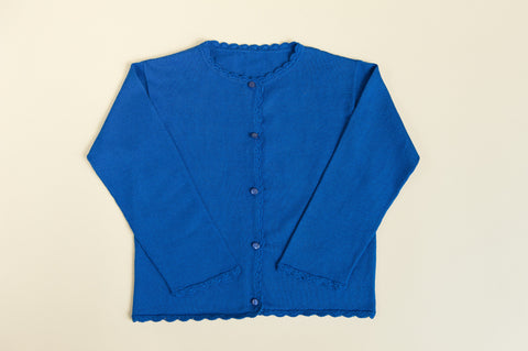Girls Royal Blue Cardigan