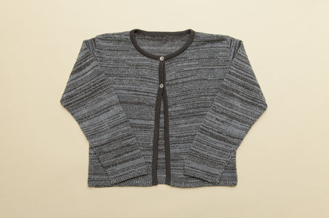 Girls Silver Sparkle Cardigan