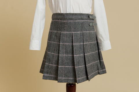 Girls Tweed Kilt Skirt