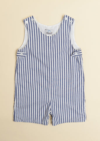 Boys Navy Candy Stripe Jon Jon