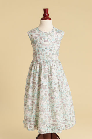 Liberty of London 'Summer Holiday' Heart-back Ruffle Dress