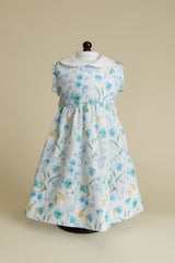 Diana's Garden Blue Doll Dress