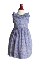 Liberty of London 'Amethyst' V-back Ruffle Dress