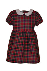 Clandon Park Plaid Dress with Peter Pan Collar