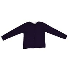 Girls Purple Cardigan