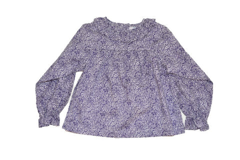 Girls Liberty of London Amethyst Ruffle Collar Blouse