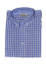 Boys Cornflower Blue Check Button-down Shirt