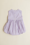 Lavender Candy Stripe Sleeveless Bubble