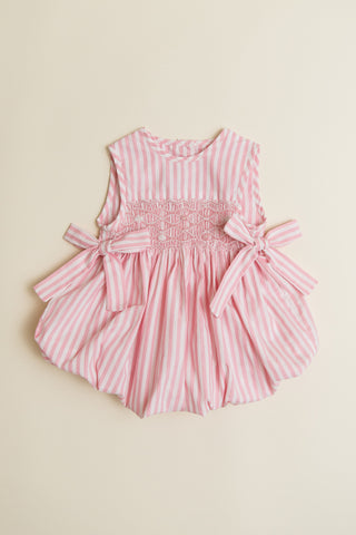 Pink Candy Stripe Sleeveless Bubble