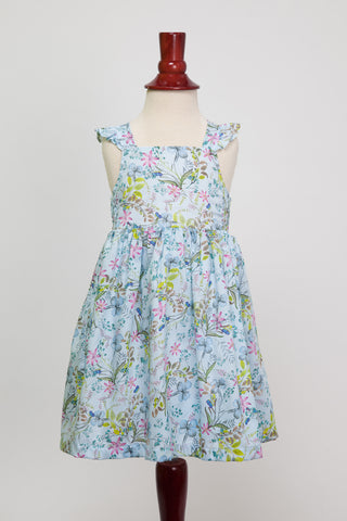 'Lillian' Dress in Summer Lily in Blue