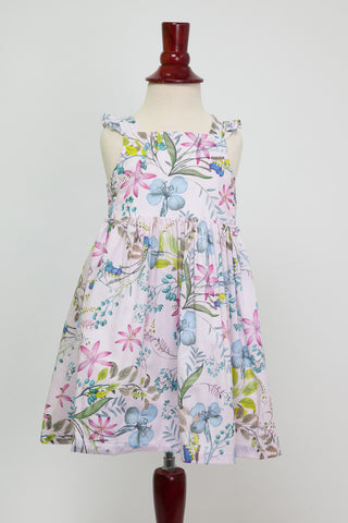 'Lillian' Dress in Summer Lily in Pink