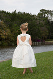 Silk Heart-back Ruffle Dress