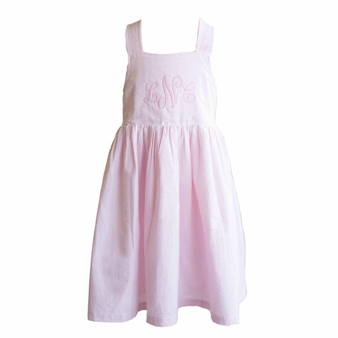 Pink Seersucker 'Lillian' Dress