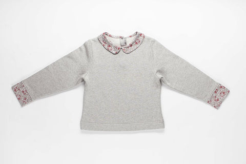 Heather & Holly Collection - Peter-pan Collar Sweatshirt