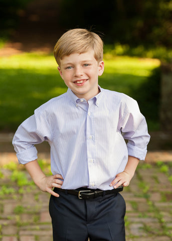 Boys Lavender Button-down Shirt