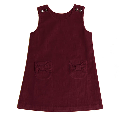 Little Girl Boysenberry Corduroy Jumper Dress