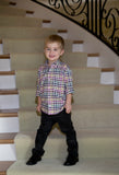 Boys Gray Corduroy Pants