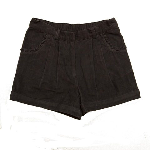 Girls Navy Corduroy Winter Shorts