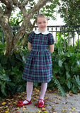 Polesden Lacey Plaid Dress with Peter Pan Collar