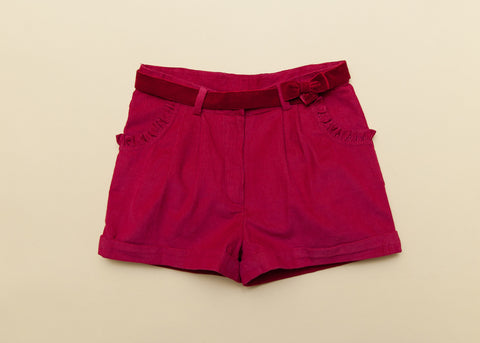 Girls Cherry Corduroy Winter Shorts
