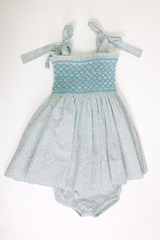'Spring Bloom' Smocked Top Baby Dress
