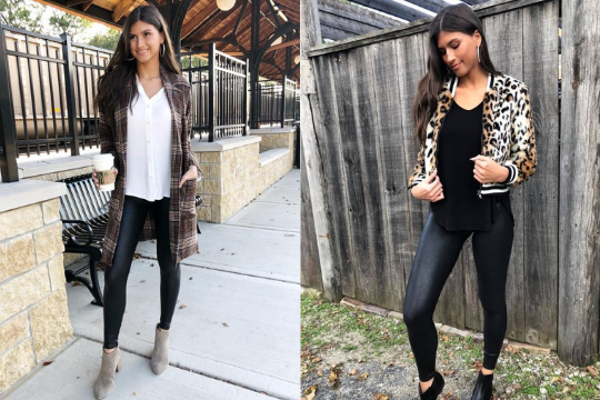 Spanx Faux Leather Leggings Styled 3 Ways