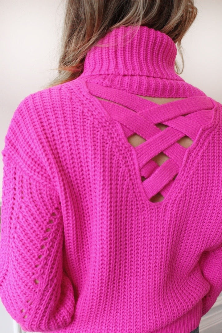 From The Heart Cowl Neck Sweater