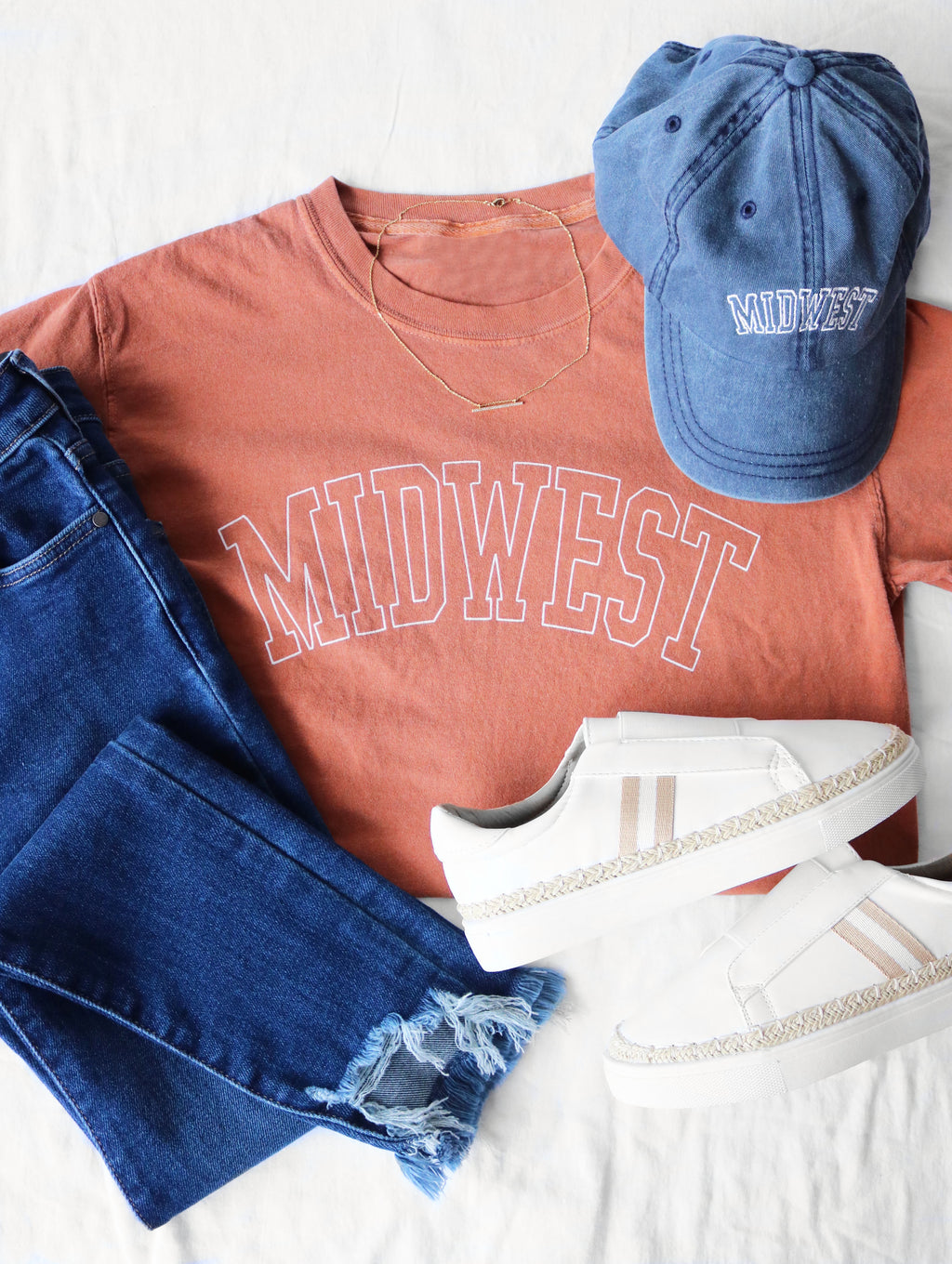 Midwest is Best Tee - Burnt Orange