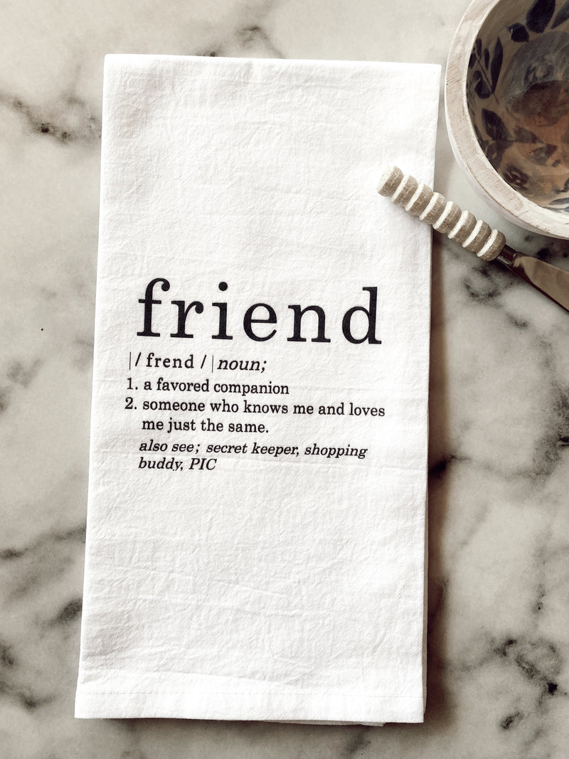 Friend Definition Tea Towel
