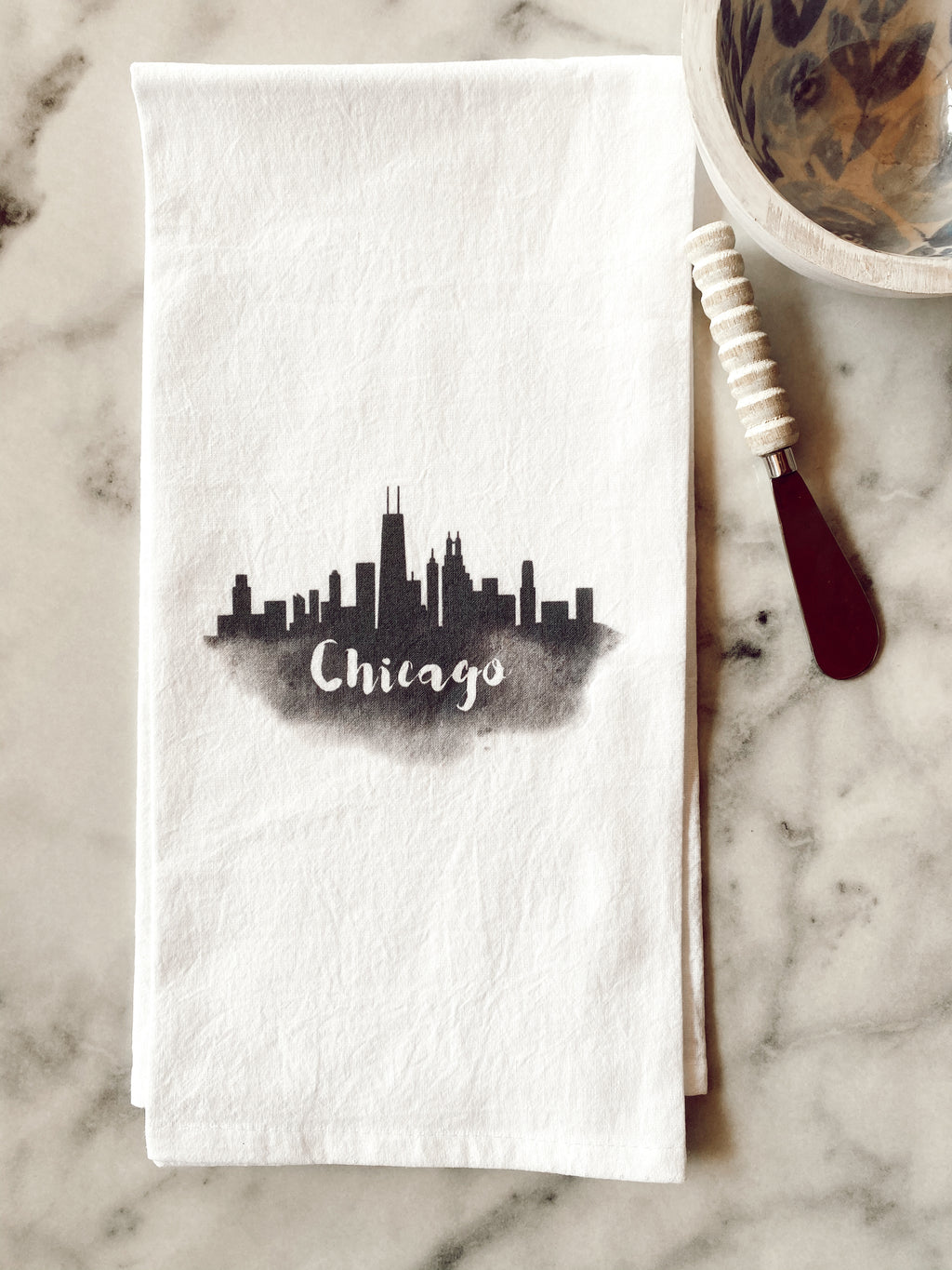 Chicago Skyline Tea Towel