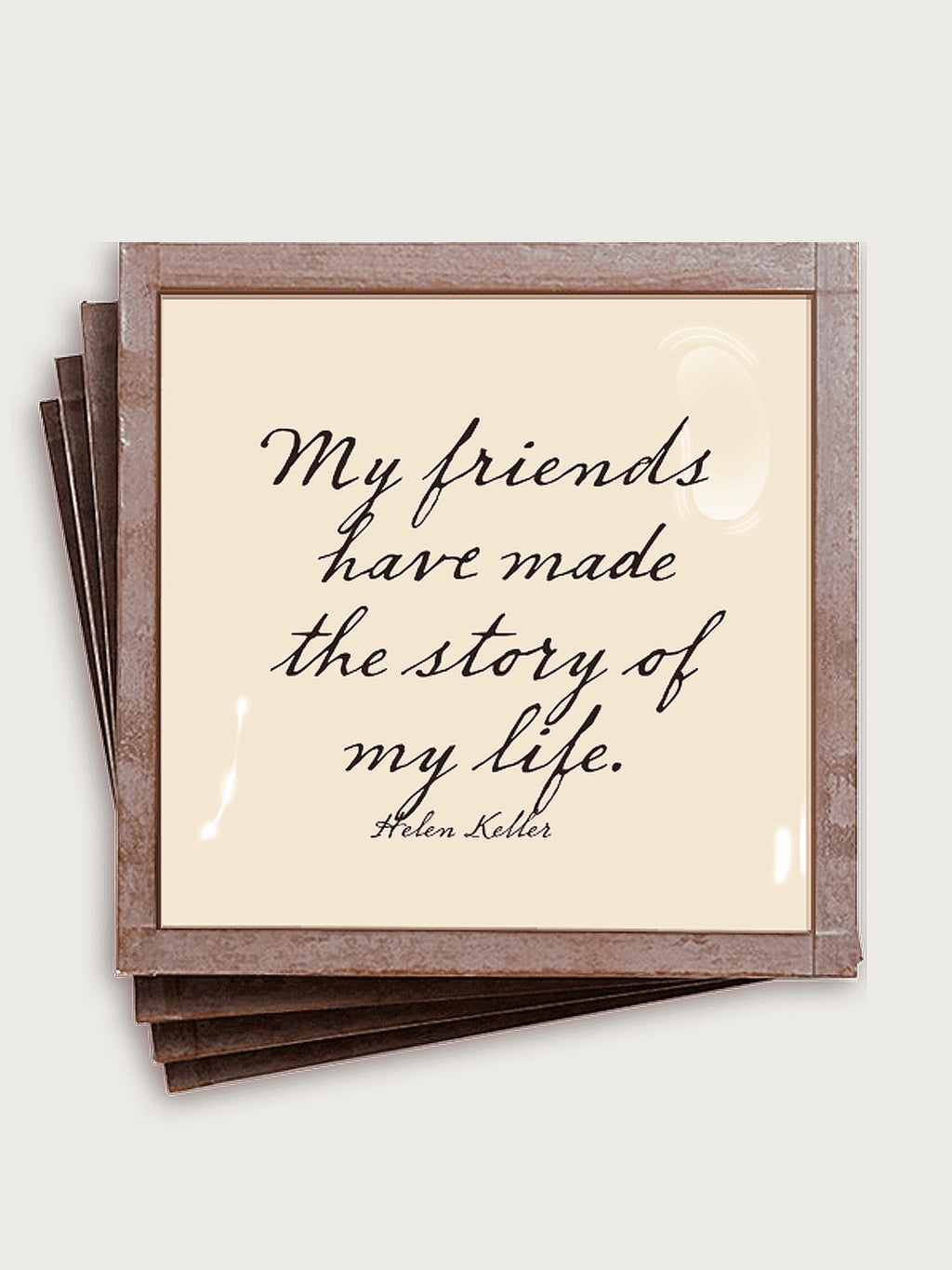 Story of my Life Friendship Coaster