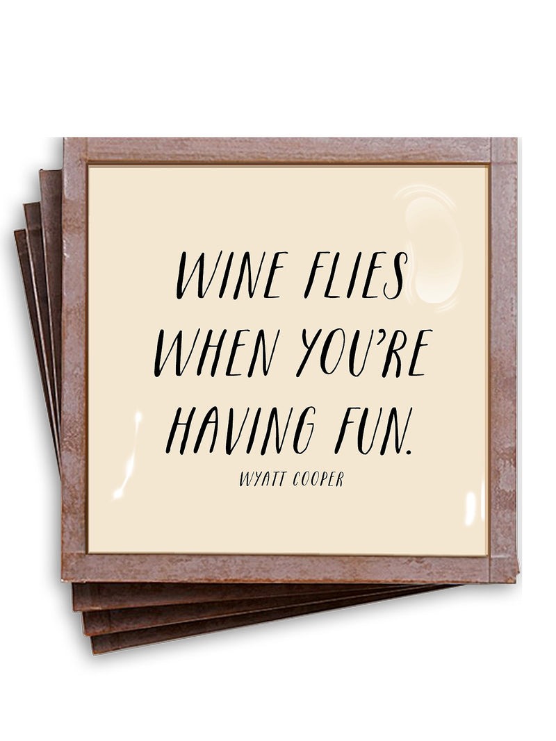 Wine Flies Coaster