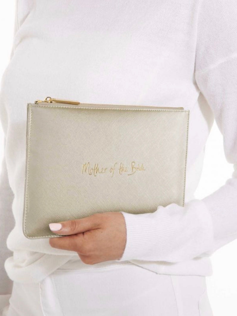 Gold Mother of the Bride Pouch
