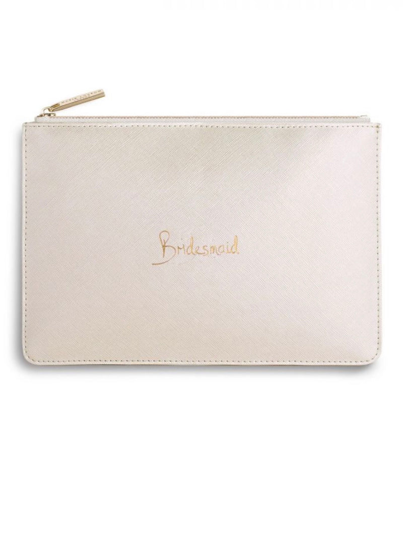 White Bridesmaid Pouch