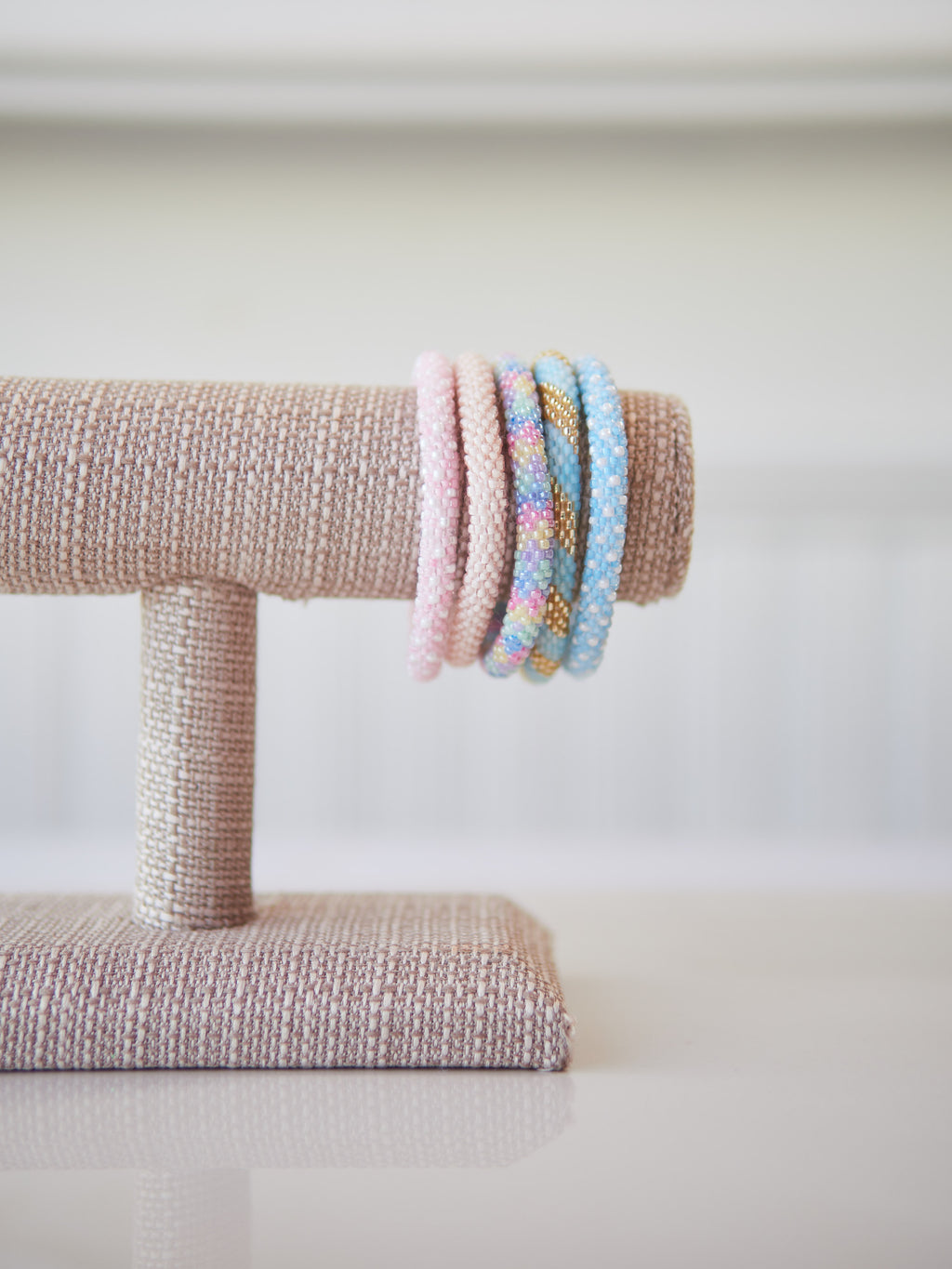 Spring Parasol Beaded Bracelet Set