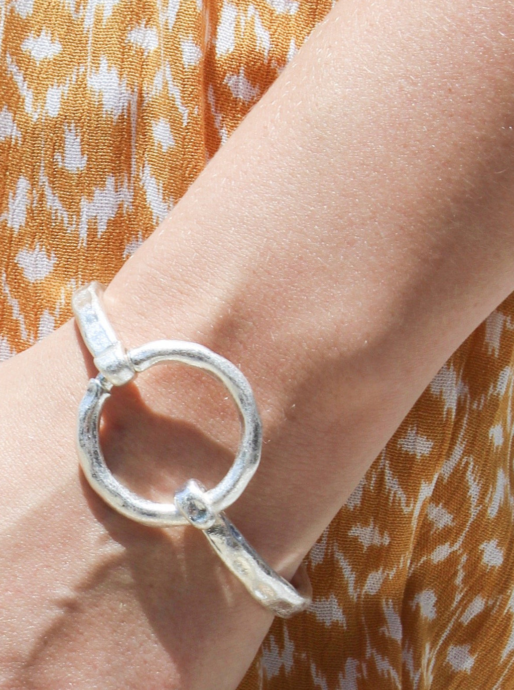 Hammered Circle Cuff